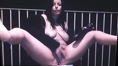 Dirty Milf Squirts on her Balcony for..