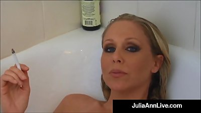 Busty Blonde Milf Julia Ann Smokes Her..
