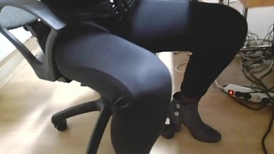 Office secretary young wife in black..
