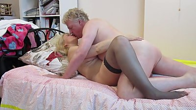 Blonde MILF Whore gets Pussy Eaten