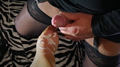 Mega hot foot worship with peeptoes..