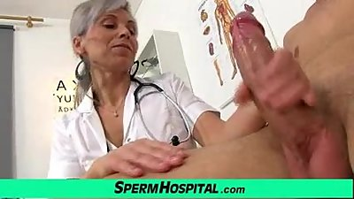 Medical CFNM handjob with Euro wife..