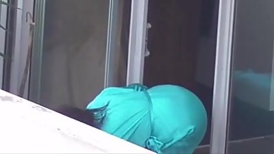 Neighbour spying voyeur cam no pants