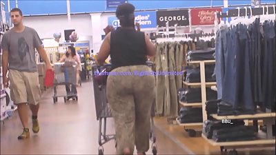 Huge Round Booty Beige Pants Loose-Fit..