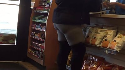 Black Booty in Grey Spandex