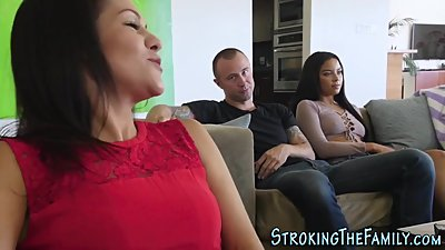 Latina stepsis gets jizzy