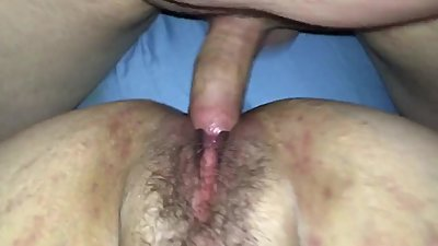Creampie milfs hairy pussy