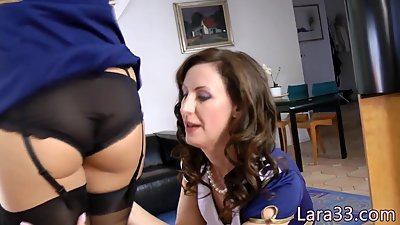 Pussylicking brit mature doggystyled..