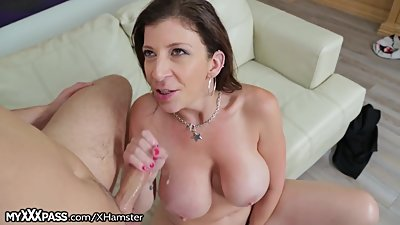 Big Titty Cougar Starved Out to Blow..