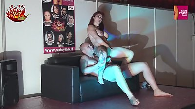 Redhead fucked in all holes