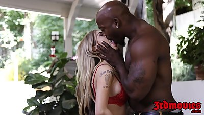 Sexy blonde MILF Kat Dior teases..