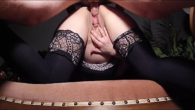 Pregnant slutwife rewarded with a..