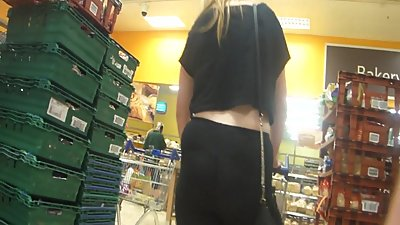 Hot blonde milf shopping in see..