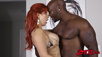 Ginger milf Savana Styles drilled by bbc
