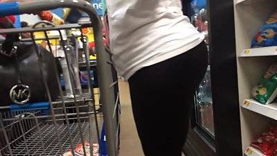 Granny Fanny in Black Leggings..