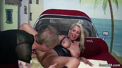 German MILF Seduce to Fuck and Facial..